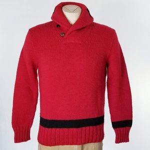 VTG Polo Ralph Lauren Red Wool Sweater Sz S EUC